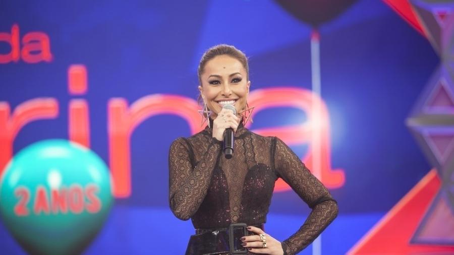 Sabrina Sato no palco de seu programa na Record - Edu Moraes/Rede Record