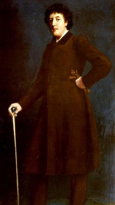 Oscar Wilde é retratato em pintura de Robert Goodloe Harper Pennington  - Reprodução