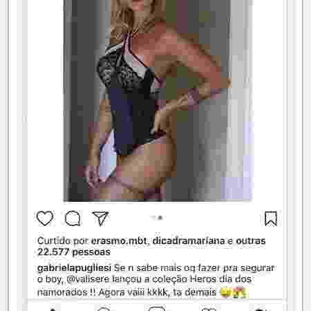 Gabriela Pugliesi em campanha de lingerie - Reprodução/Instagram - Reprodução/Instagram