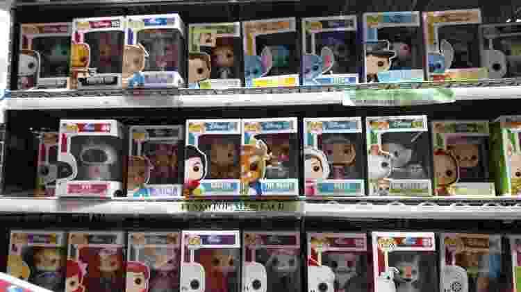 Funkos de personagens da Disney não fizeram muito sucesso na San Diego Comic-Con 2017 - Renata Nogueira/UOL - Renata Nogueira/UOL