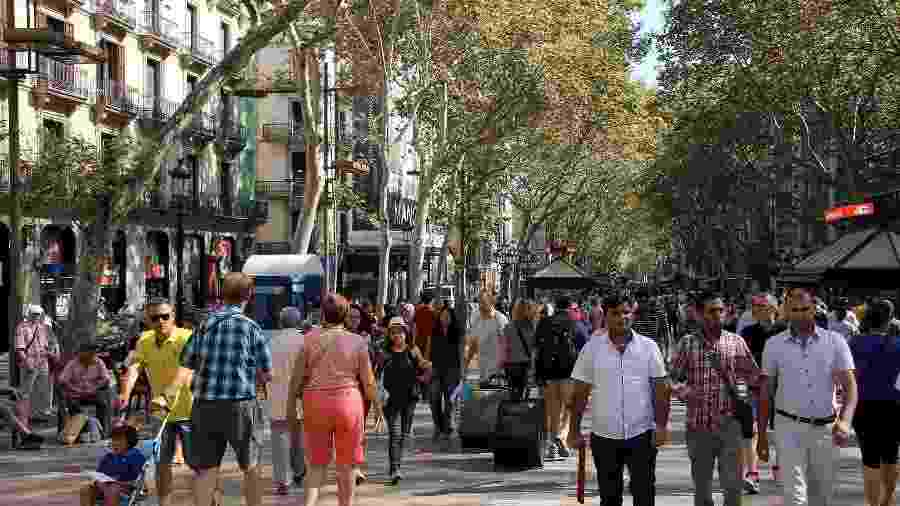 La Rambla, rua tradicional de Barcelona, cidade que virou um hub de startups - Liklug/Creative Commons