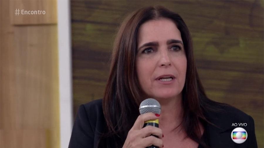 """Malu Mader no """"Encontro"""" - Reprodução/Globo"""