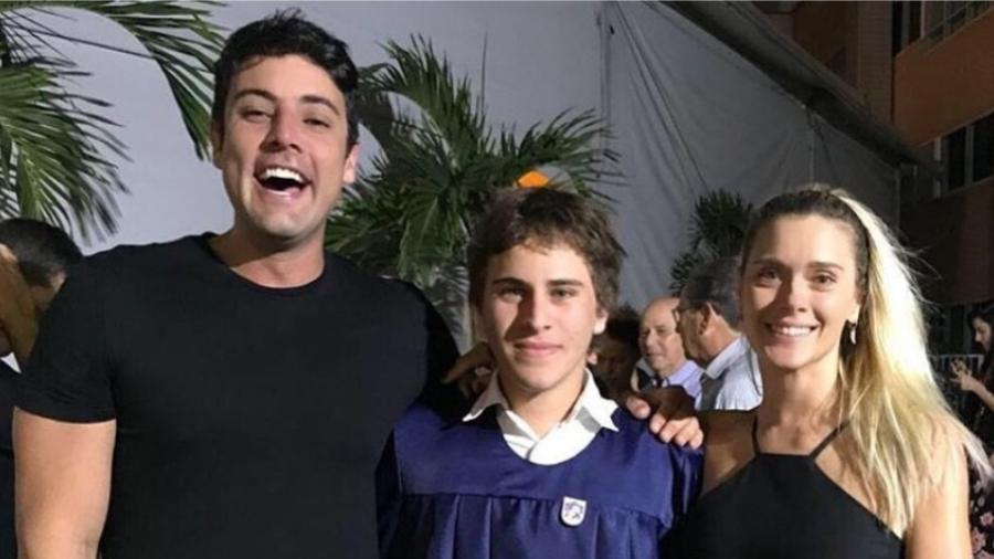 Bruno de Luca, Davi e Carolina Dieckmann - Reprodução/Instagram/brunodeluca