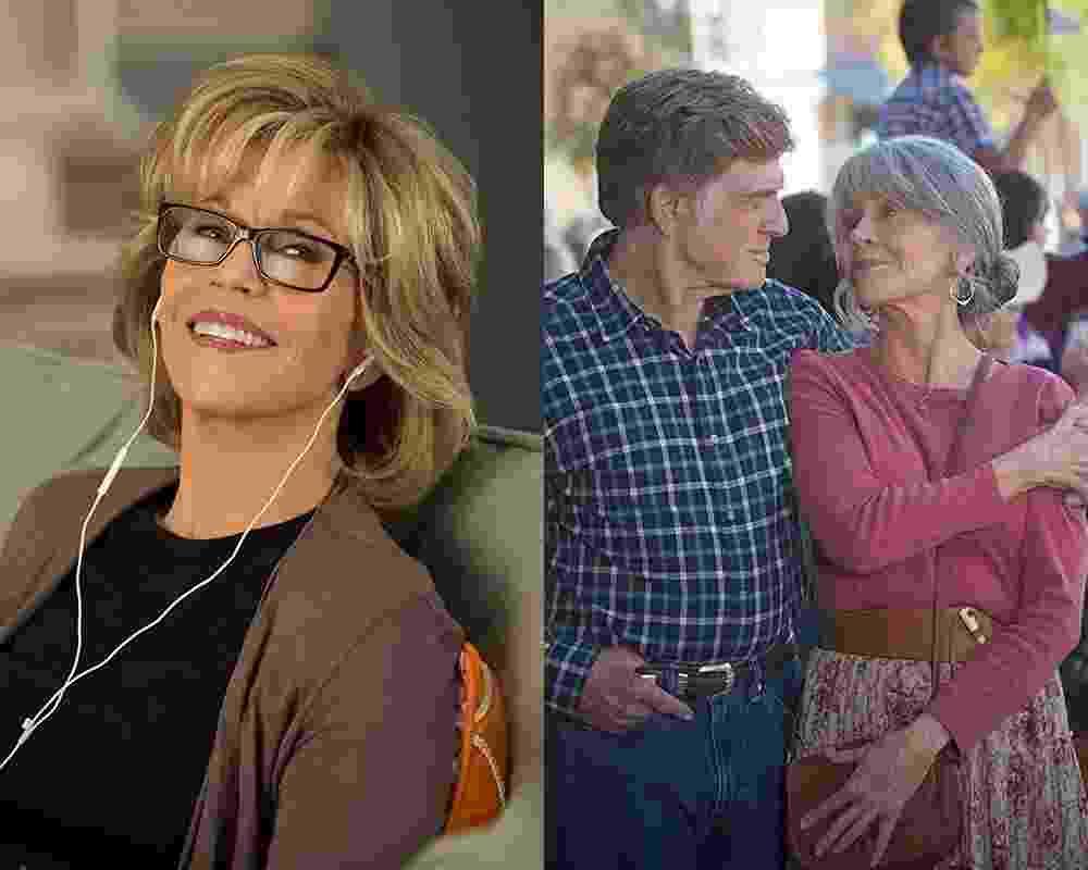 """Jane Fonda em """"Grace & Frankie"""" e """"Nossas Noites"""" - Reprodução e Montagem UOL"""