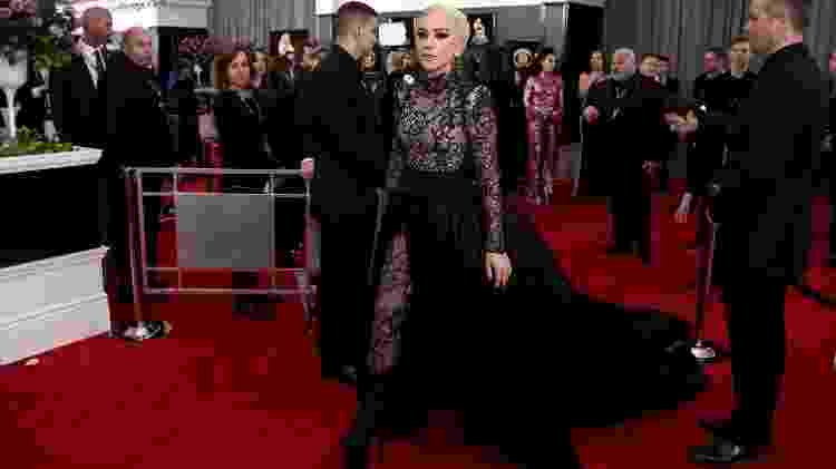 Lady Gaga no tapete vermelho do Grammy 2018 - Getty Images - Getty Images