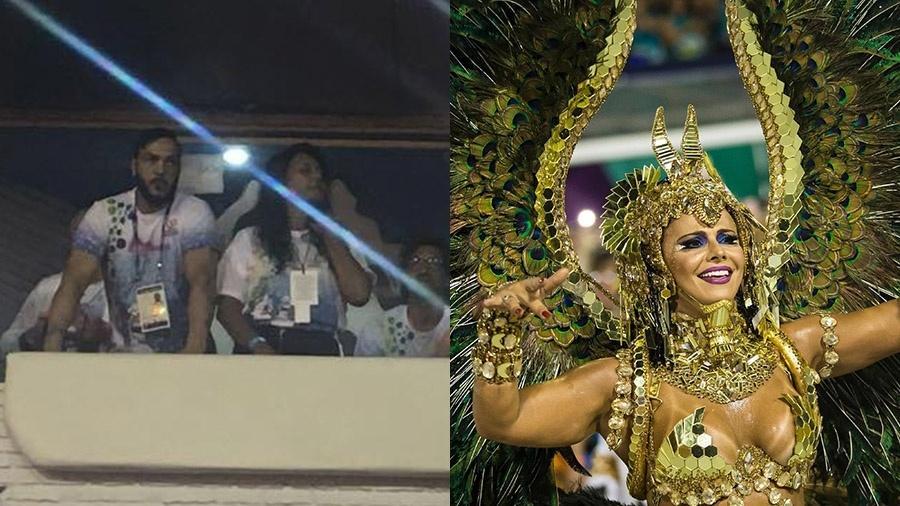 Belo viu a ex, Viviane Araújo, desfilar na Sapucaí - Lias Gomes e Bruna Prado/UOL