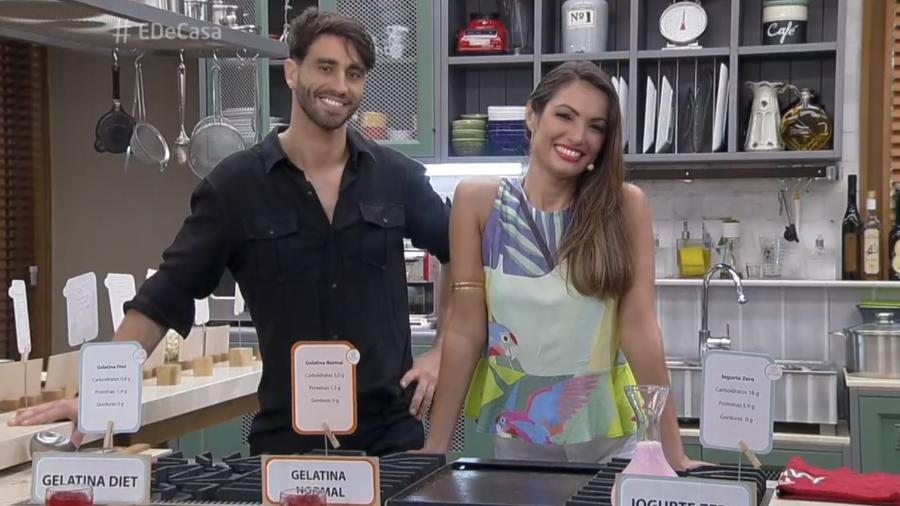 """Patrícia Poeta e o endocrinologista Fabiano Serfaty durante o programa """"É de Casa"""" - Reprodução/Globo"""