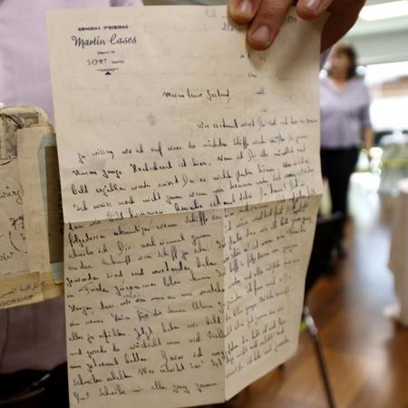 Fanny Gewürz recebeu uma carta da irmã após 74 anos - Reprodução/Twitter