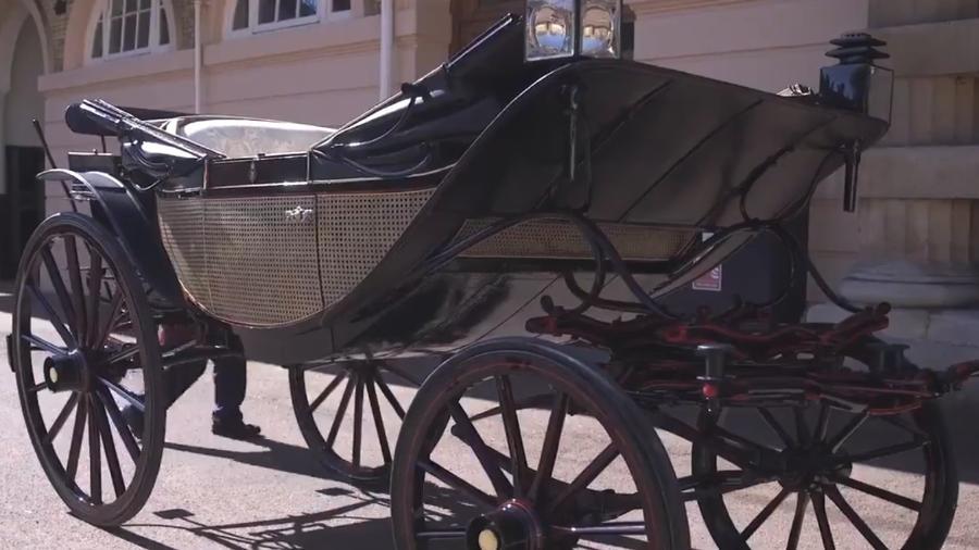 Carruagem Landau de Ascot foi a escolhida por Megan Markle e príncipe Harry - Reprodução/Royal UK