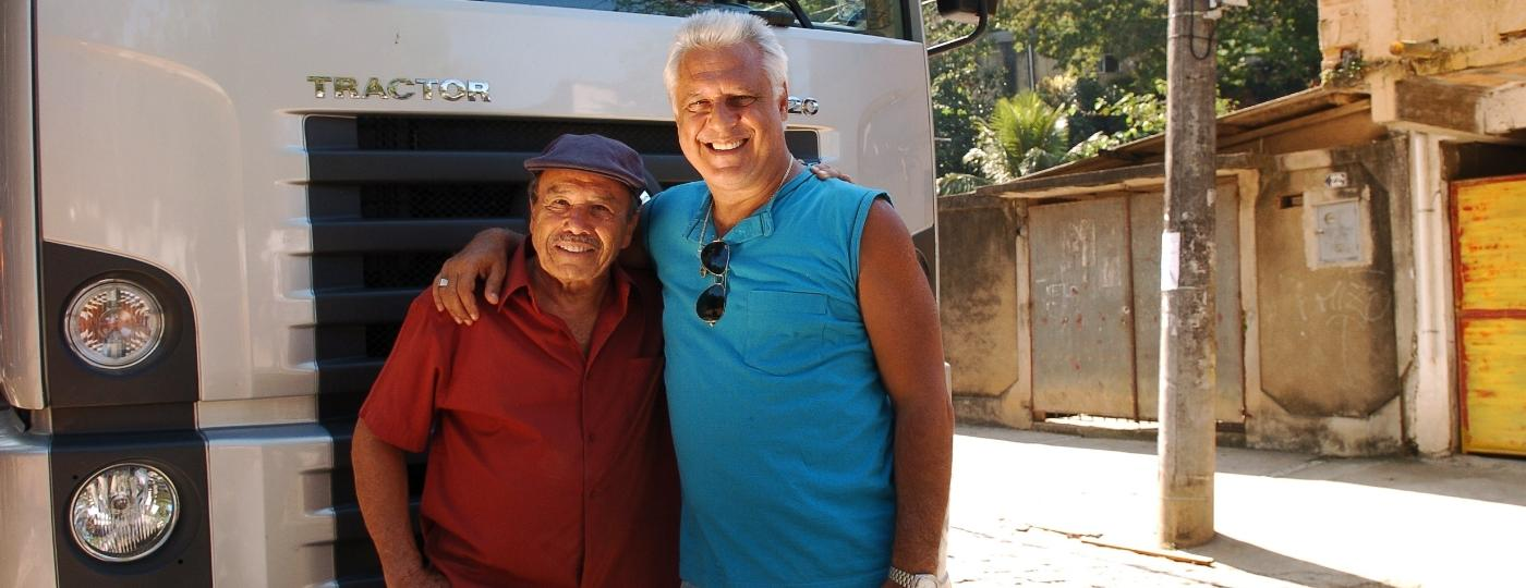 "Bino (Stênio Garcia) e Pedro (Antônio Fagundes) em ""Carga Pesada"" - Márcio de Souza/TV Globo"