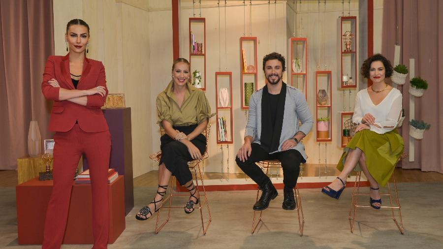 Mel Fronckowiak, a consultora de moda Bia Paes de Barros, o cabeleireiro Yohan Nicolas e a maquiadora Débora Bitencourt - Cauê Moreno/Divulgação