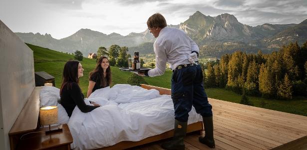 Os hóspedes do Zero Real Estate dormem entre as montanhas e são servidos por mordomos