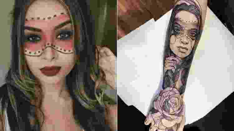 Pedro Rocha se inspira em foto de Nara Almeida para fazer tatuagem  - Reprodução/Instagram - Reprodução/Instagram