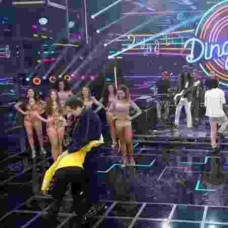 Garrido chamou Mary Joe Jackson, sósia de Michael Jackson para dançar no palco - Reprodução/TV Globo - Reprodução/TV Globo