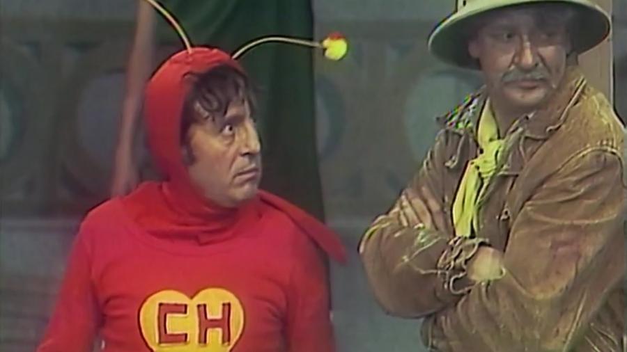 """Chapolin diz que """"Batman está em lua de mel com Robin"""" - Reprodução/Multishow"""