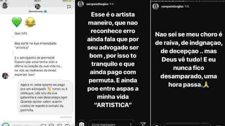 Douglas Sampaio discute no Instagram com Cadu Libonati - parte 3 - Reprodução/Instagram - Reprodução/Instagram