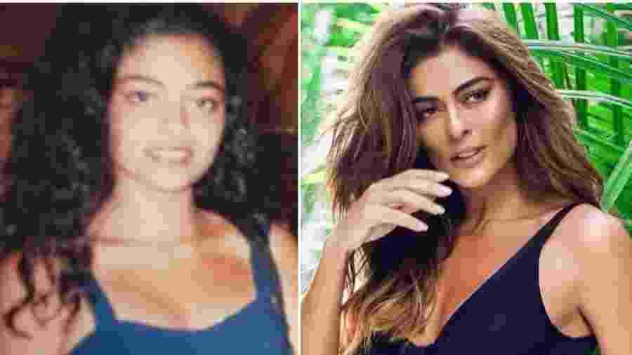 Juliana Paes antes e depois da fama - Reprodução