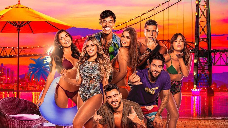 """Cartaz de """"Soltos em Floripa"""", reality show brasileiro do Amazon Prime Video - Divulgação"""
