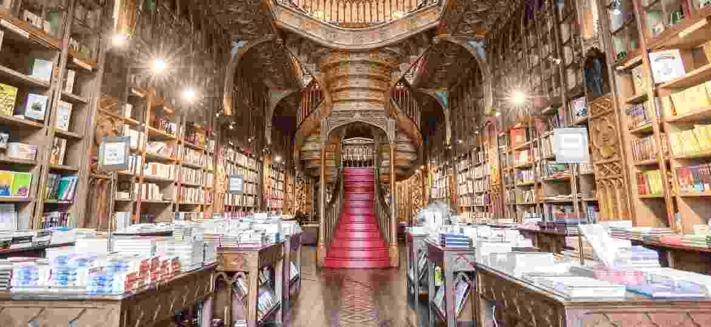 Livraria Lello, do Porto (Portugal), que aliviar a pandemia com livros clássicos - Ivo Rainha