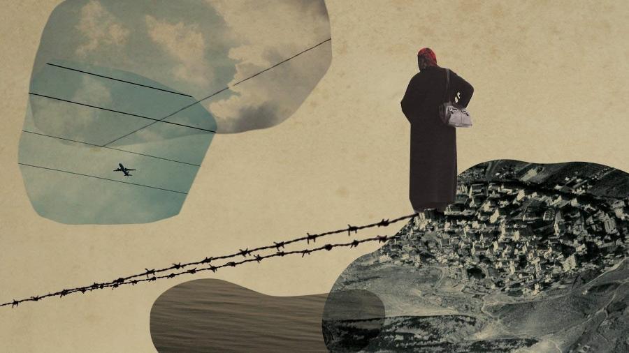 """Arte do livro """"Tornar-se Palestina"""". - Paula Albuquerque/ Relicário."""