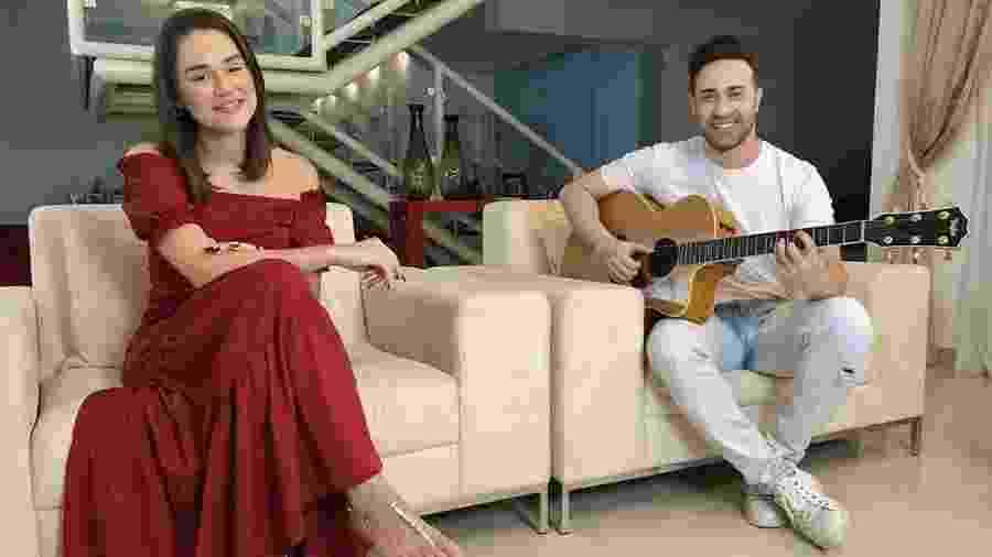 Adma Andrade e Diego Rafael, da banda Limão com Mel, que se apresenta hoje às 21h - Reprodução/Instagram @limaocommel