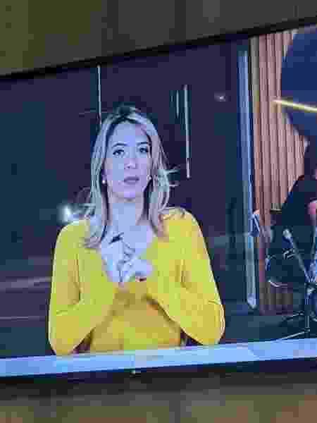 Natalie na tv - arquivo pessoal - arquivo pessoal
