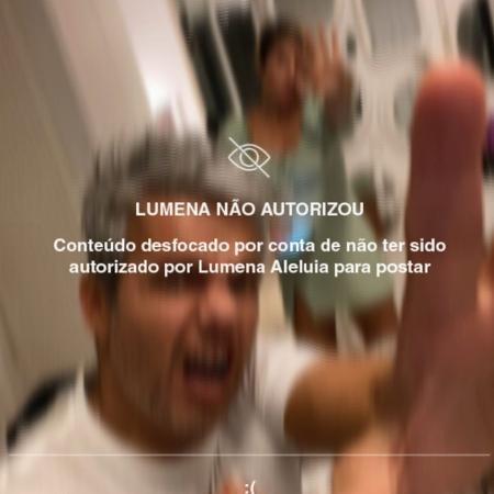 """Otaviano Costa e Flávia Alessandra brincam com Filtro dedicado a Lumena, do """"BBB 21"""" - Reprodução/Instagram"""