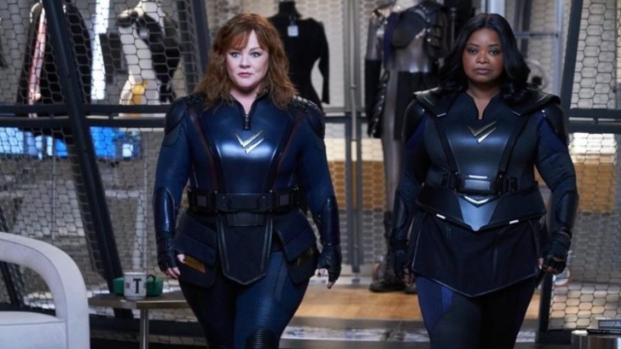 """Melissa McCarthy e Octavia Spencer em cena de """"Esquadrão Trovão"""" - Reprodução"""
