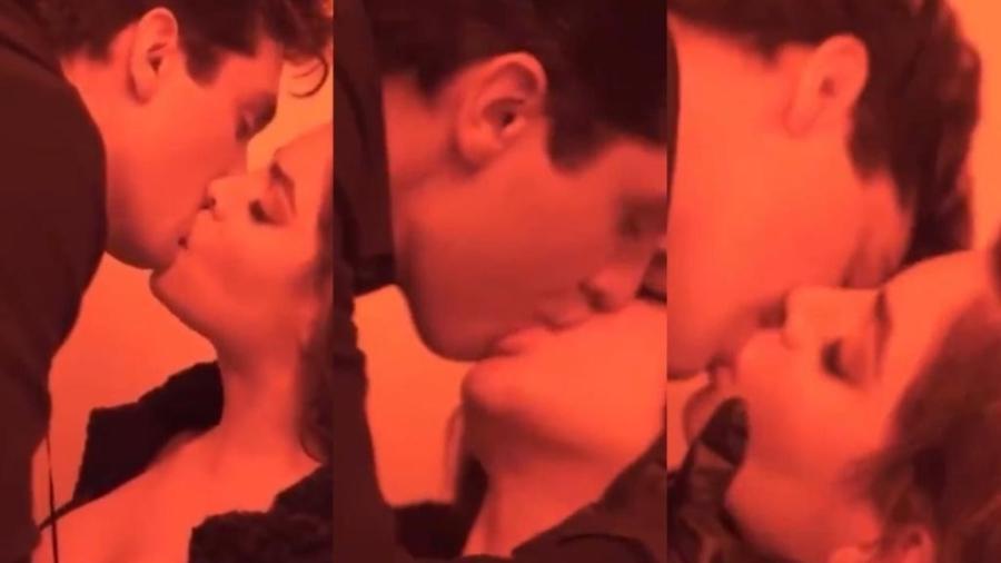 """Luan Santana e Gkay no clipe """"Morena"""" - Reprodução/Twitter"""