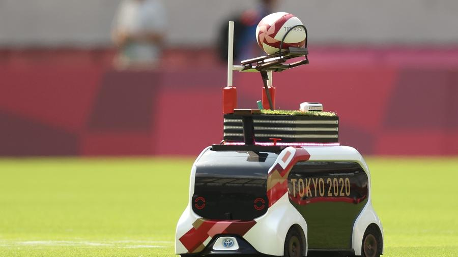 Miniatura de Toyota e-Palette nas Olimpíadas de Tóquio - Divulgação