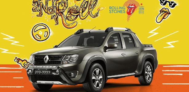 Renault Oroch Stones - Arte UOL Carros - Arte UOL Carros