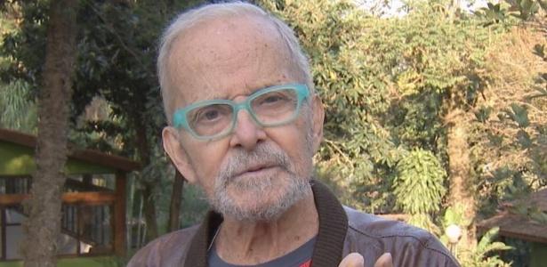"""Goulart de Andrade em uma de suas últimas gravações para o """"Vem Comigo"""", da Gazeta - Divulgação/TV Gazeta"""
