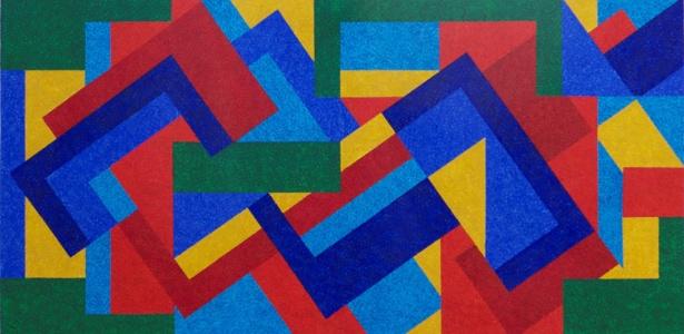 Uma das telas de Claudio Tozzi em exposição na Referência Galeria de Arte - Divulgação