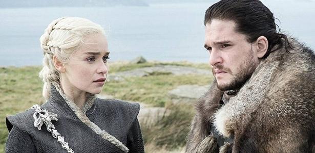 """Daenerys e Jon Snow em cena da sétima temporada de """"Game of Thrones"""""""