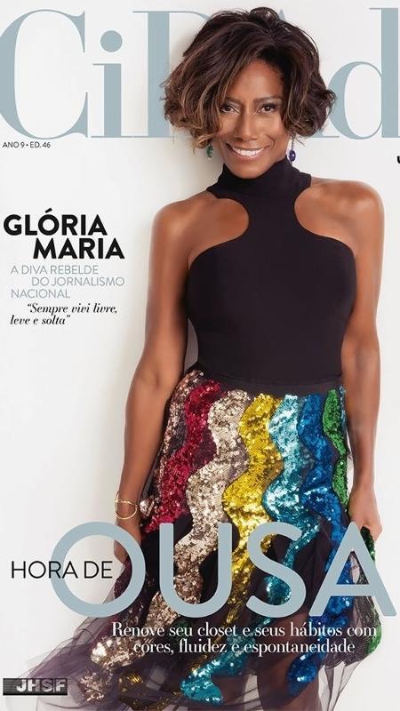 """Glória Maria na capa da revista """"Cidade Jardim"""" - Reprodução"""