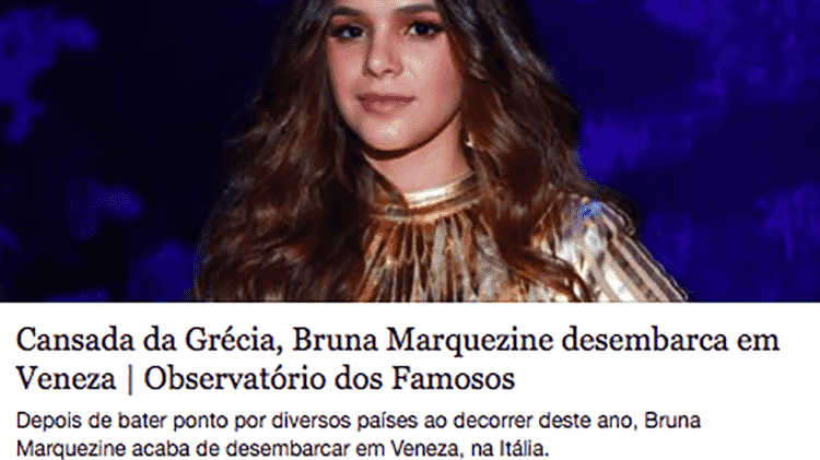 bruna marquezine grecia - Reprodução - Reprodução