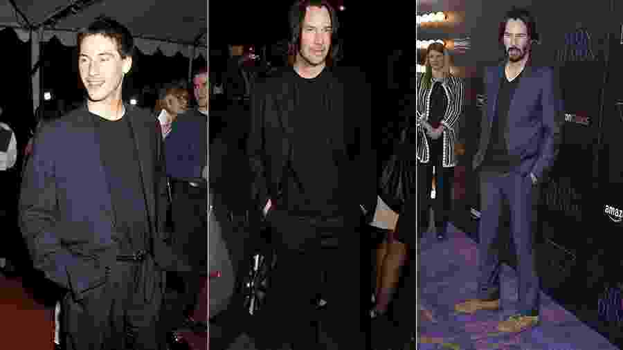 Keanu Reeves em 1994, 2009 e 2016 - Getty Images