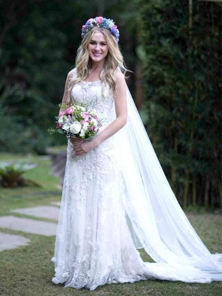 Fiorella Mattheis em seu casamento em 2013 - Divulgação
