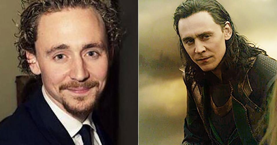 Por baixo de toda aquela cabeleira de Tom Hiddleston também há beleza e faz justiça a uma das habilidades de Loki ao assumir várias personalidades