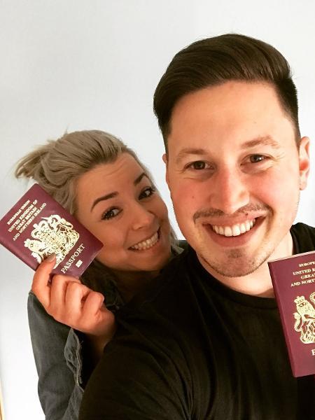 Matt Myles e a noiva, Stacy - Arquivo Pessoal