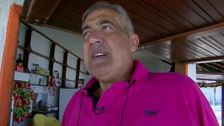 O ator de pegadinhas Gilberto Augusto Félix, conhecido como Montanha - Reprodução/Record