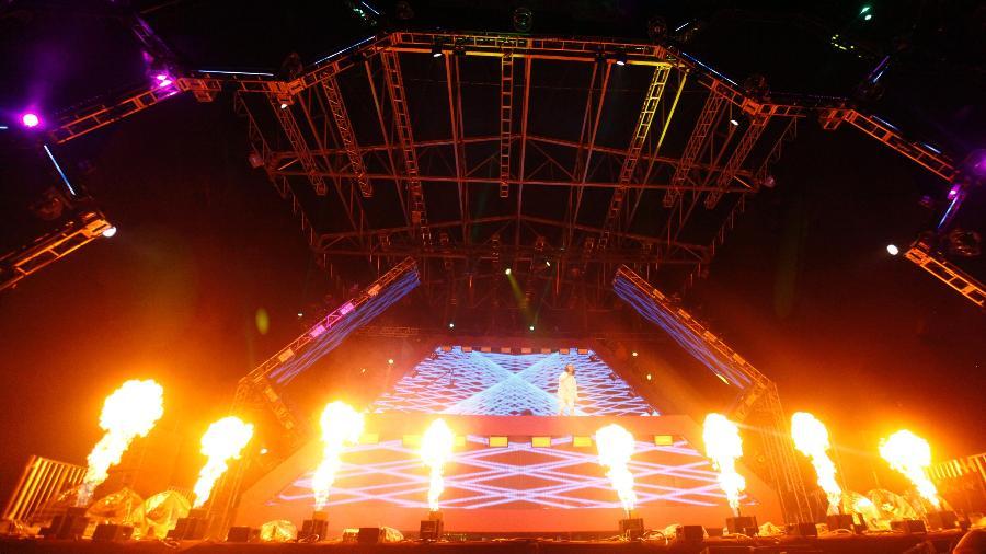 Show do DVBBS, um dos destaques do palco eletrônico do Lollapalooza - Ricardo Matsukawa/UOL
