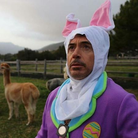 Robert Downey Jr. troca a roupa do Homem de Ferro para comemorar a Páscoa - Reprodução/Instagram