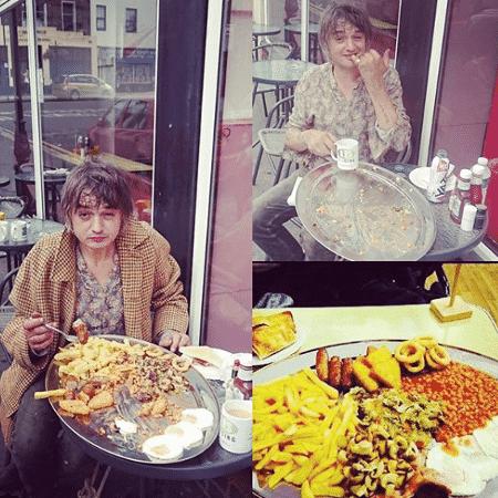 Pete Doherty, do Libertines, devora café da manhã calórico - Reprodução/Instagram