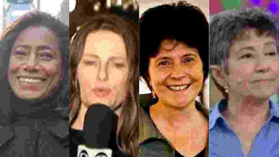 Repórteres veteranas do jornalismo na TV - Montagem/UOL