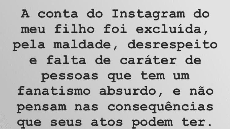 Carlinhos Aguiar se pronuncia sobre exclusão da conta de Caique no Instagram - Reprodução/Instagram - Reprodução/Instagram