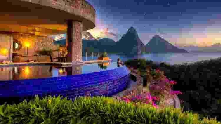 Jade Mountain Resort, na ilha de Santa Lúcia, no Caribe - Divulgação/Jade Mountain Resort - Divulgação/Jade Mountain Resort
