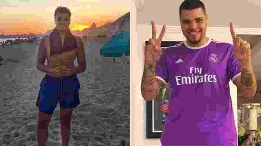 Pablo Jorge atualmente e quando pesava quase 20 quilos a mais, em 2017 - Reprodução/Instagram