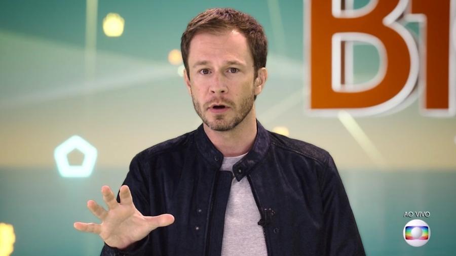 Tiago Leifert explica para o público sobre a prova do líder  - Reprodução/TvGlobo