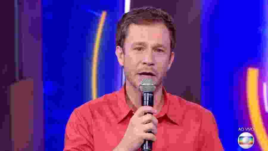 Tiago Leifert conversa com o público antes do quinto paredão  - Reprodução/TvGlobo